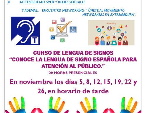 CURSO LENGUA DE SIGNOS NOVIEMBRE 2019