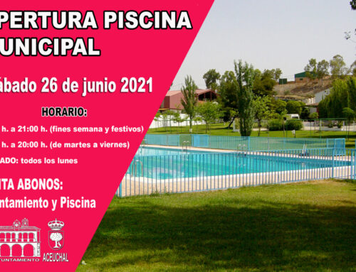 APERTURA PISCINA MUNICIPAL TEMPORADA BAÑOS 2021
